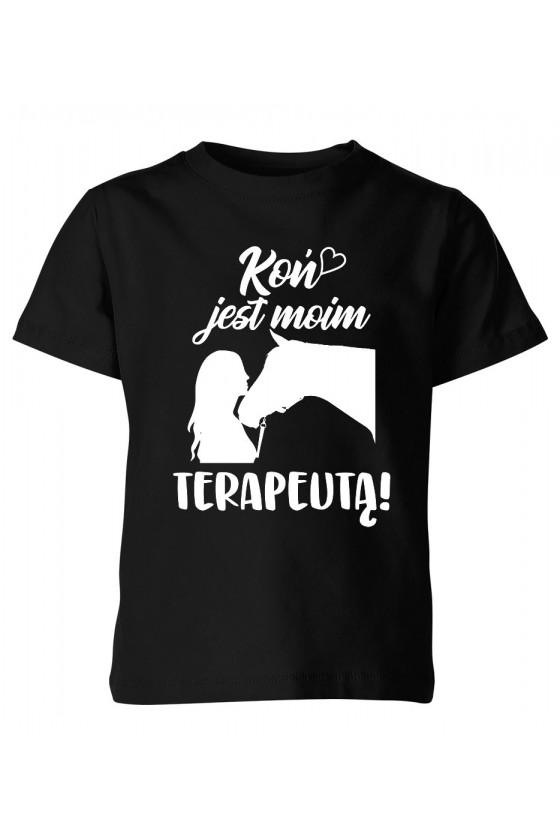 Koszulka dziecięca Koń jest moim terapeutą