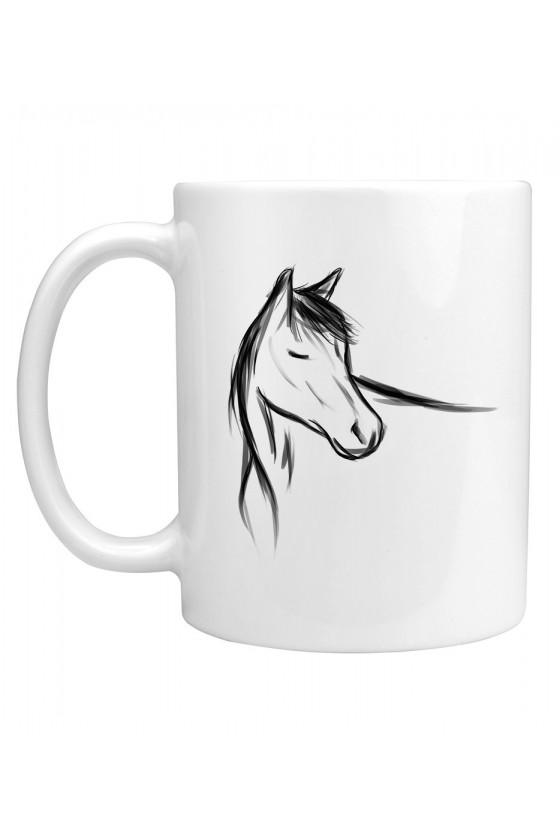 Kubek z ręcznie malowanym koniem