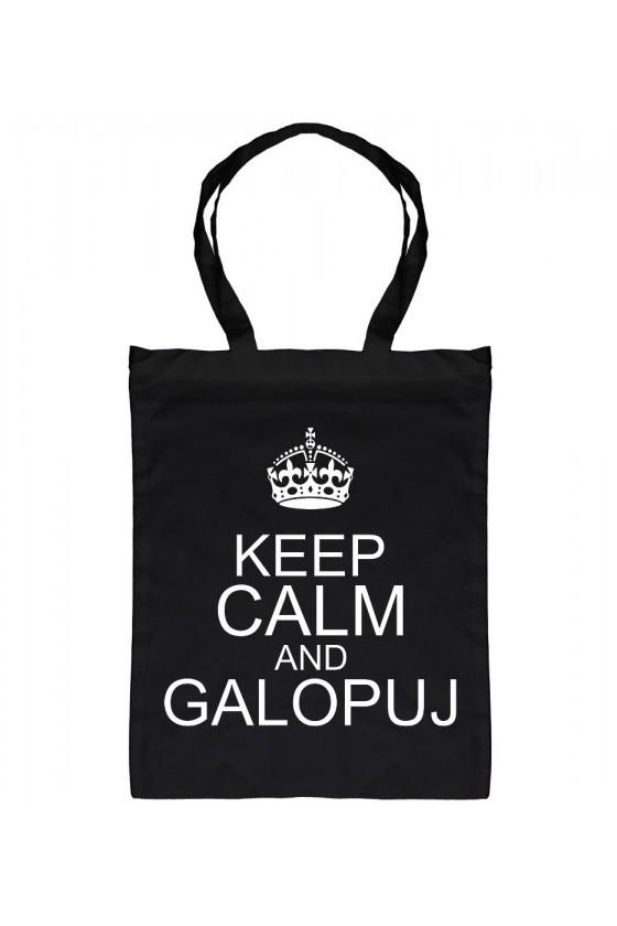 Torba bawełniana Keep calm and galopuj