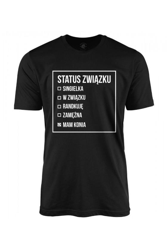 Koszulka męska Status związku Mam konia