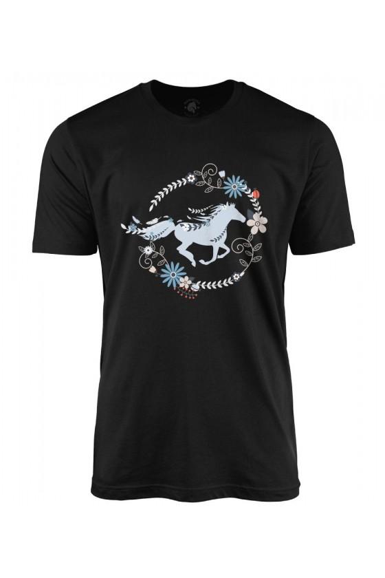 Koszulka męska Piękny Galopujący Koń