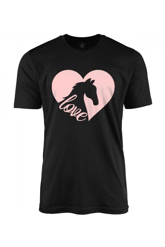 Koszulka męska z nadrukiem Serca Love