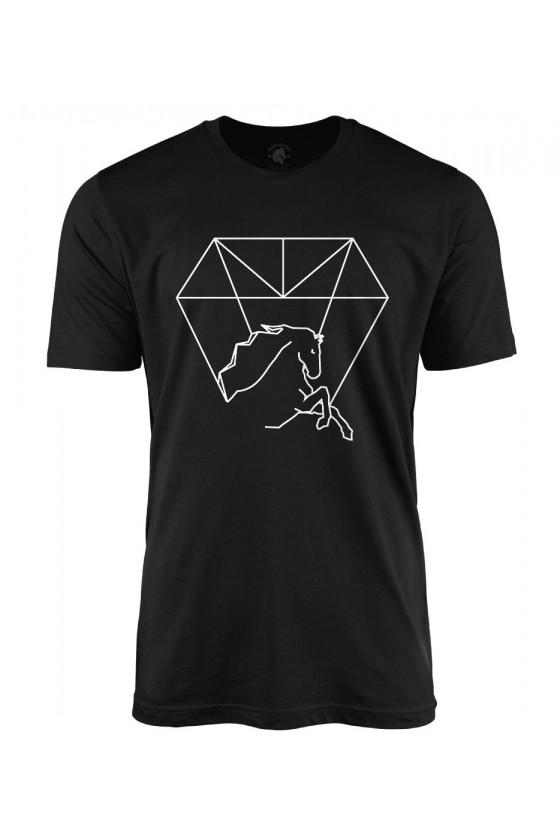 Koszulka męska z nadrukiem Kryształowy Koń