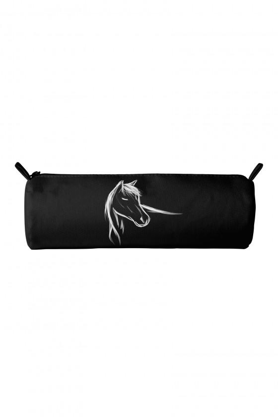 Piórnik Ręcznie malowany koń