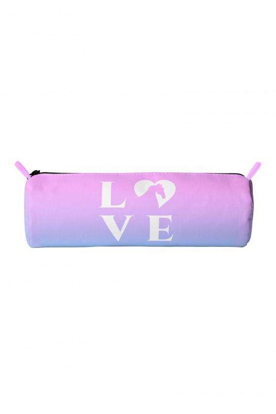 Piórnik różowy LOVE