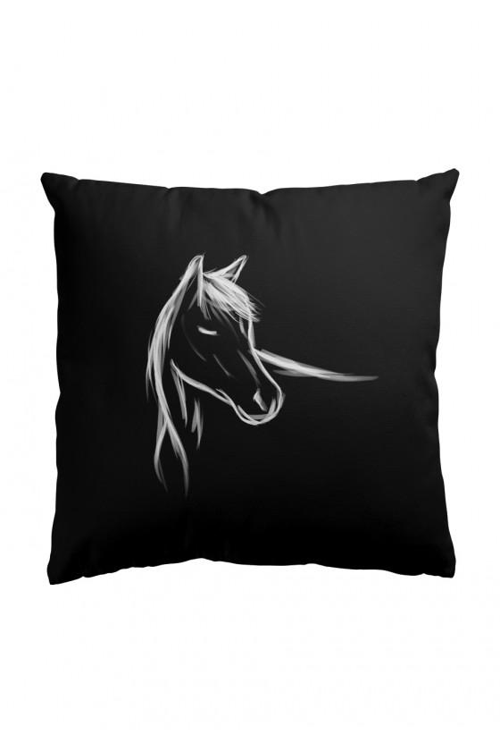 Poduszka Premium Z ręcznie malowanym koniem
