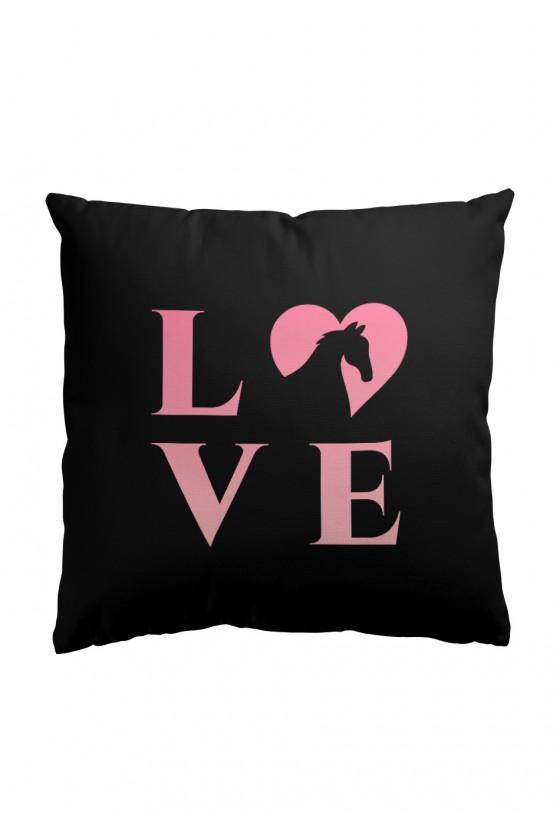 Poduszka Premium LOVE (czarna)