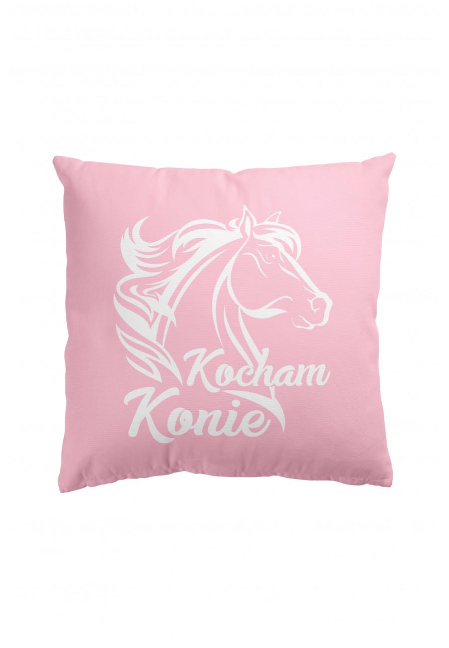 Poduszka Premium Kocham Konie (różowa)