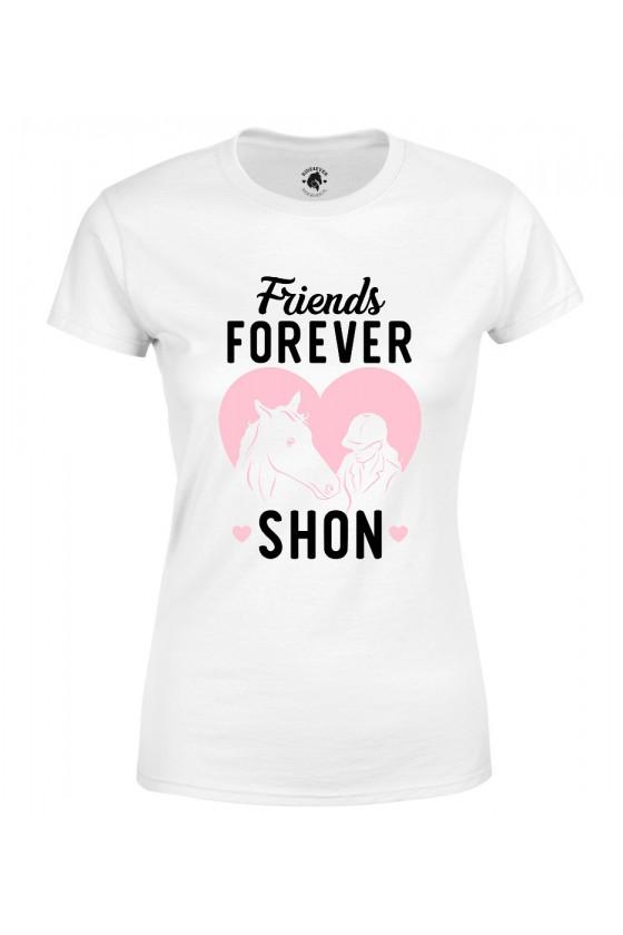 Koszulka damska Friends Forever (imię konia)