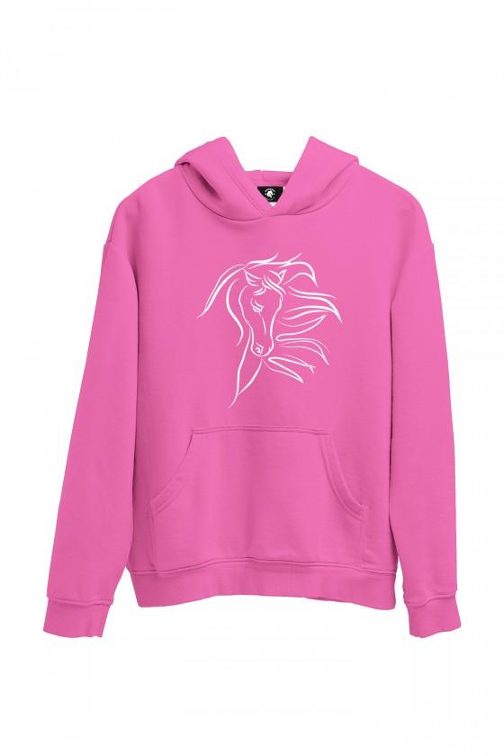 Bluza różowa z pięknym koniem