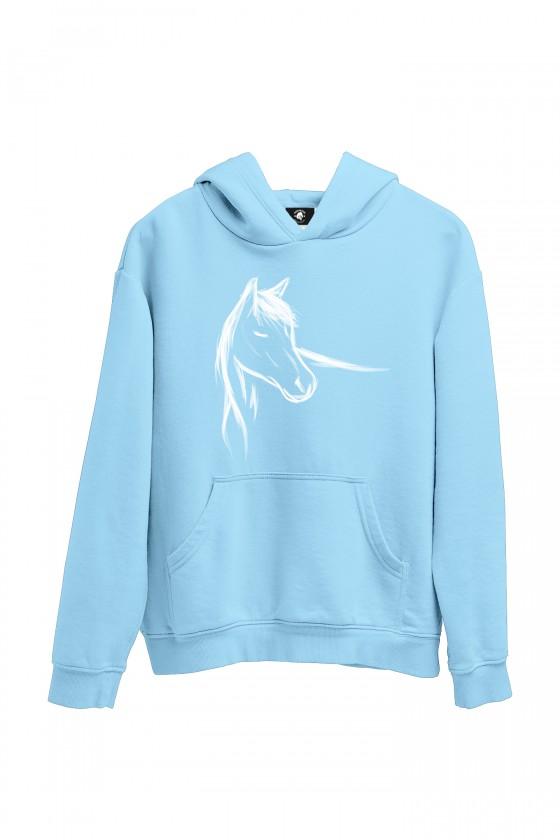 Bluza babyblue z ręcznie malowanym koniem