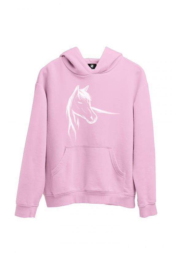 Bluza jasnoróżowa z ręcznie malowanym koniem