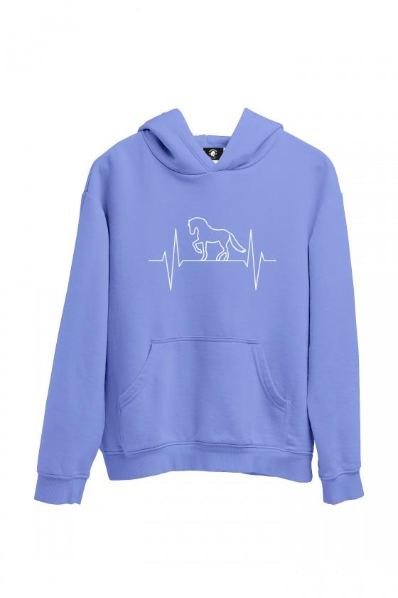 Bluza pastelowa-niebieska moje serce bije w rytmie kopyt