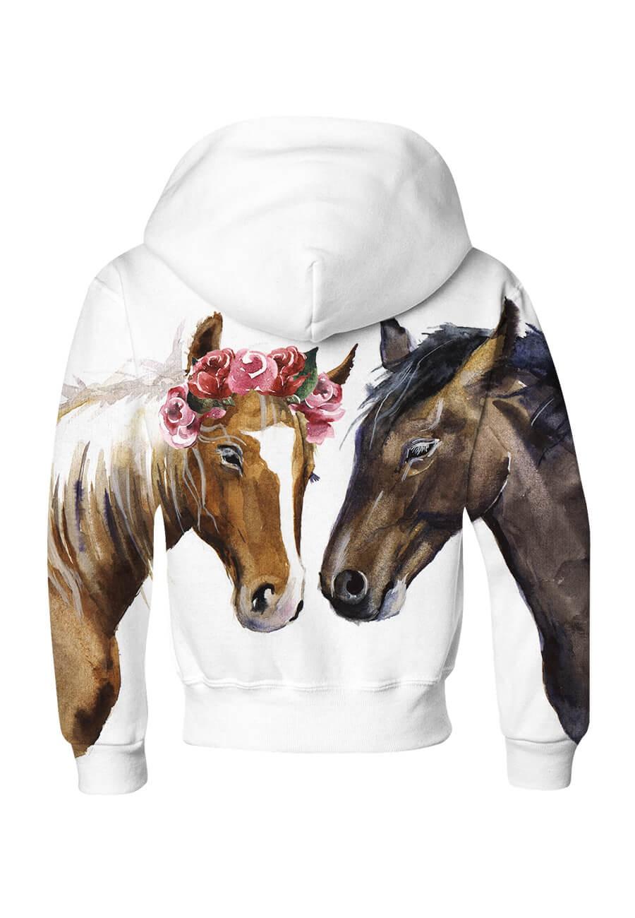 Bluza dziecięca bawełniana Dwa piękne konie