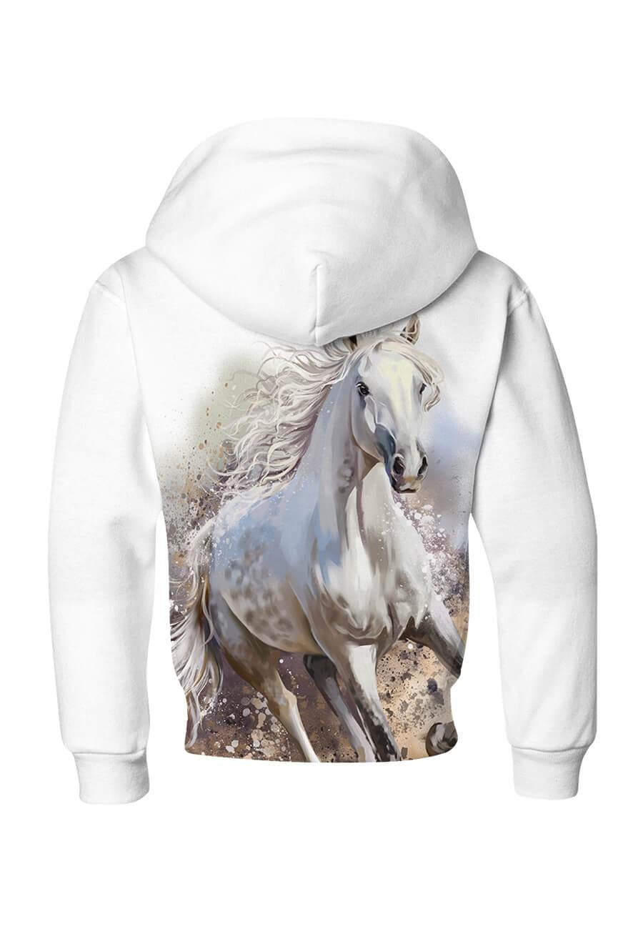 Bluza dziecięca bawełniana Galopujący biały koń