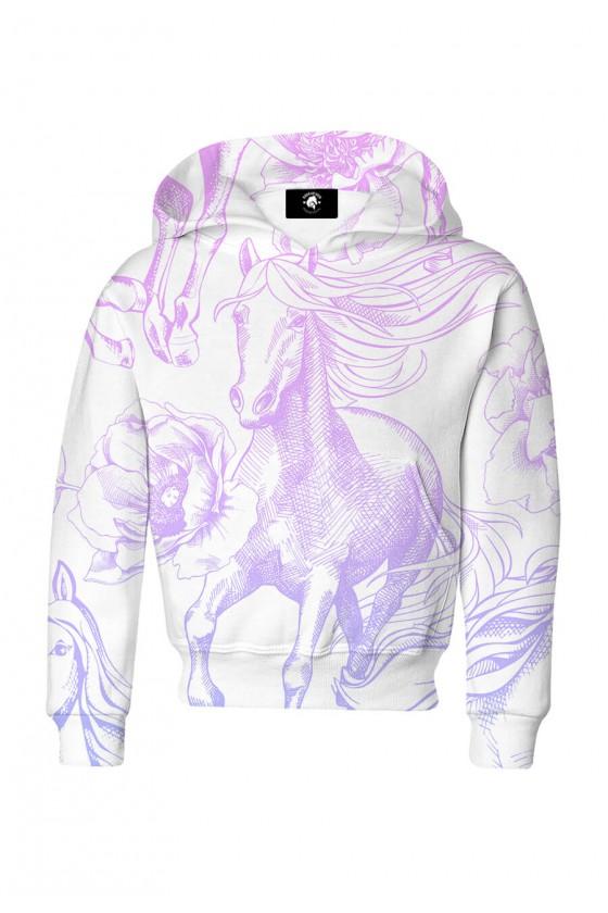 Bluza dziecięca bawełniana Pastel konie