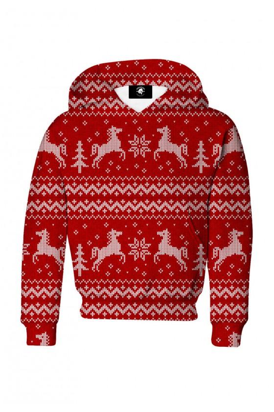 Bluza dziecięca bawełniana Świąteczny sweter