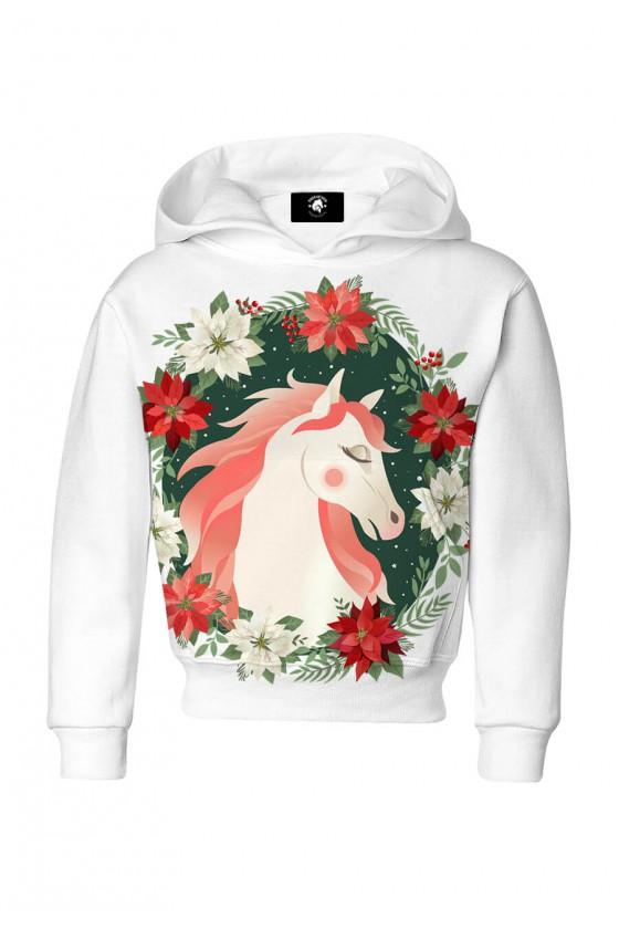 Bluza dziecięca bawełniana Zimowy koń
