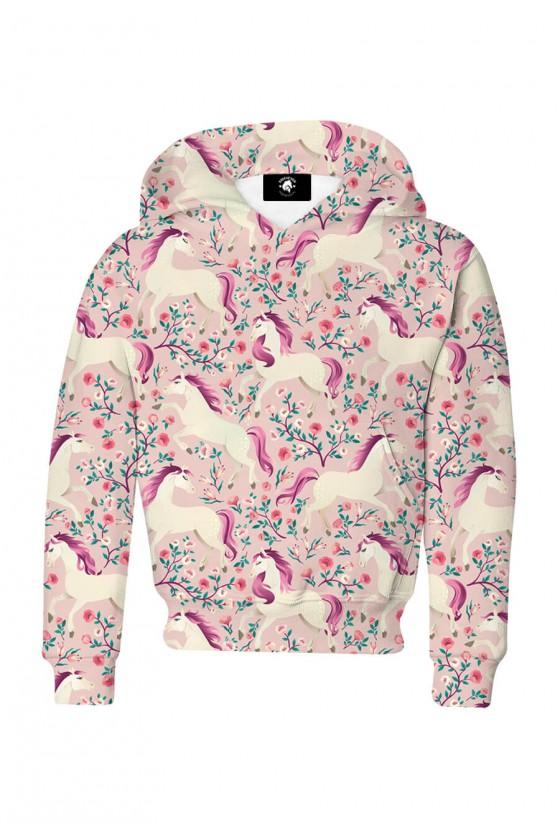 Bluza dziecięca bawełniana Różowe konie