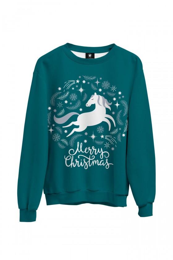 Bluza bawełniana klasyczna Merry Christmas