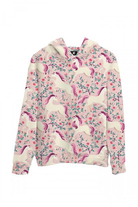 Bluza bawełniana Różowe konie
