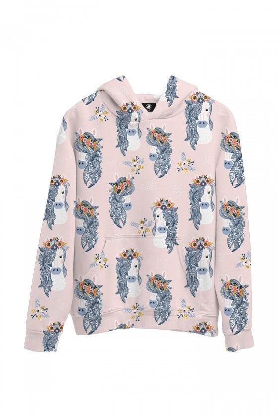 Bluza bawełniana Konie w wiankach