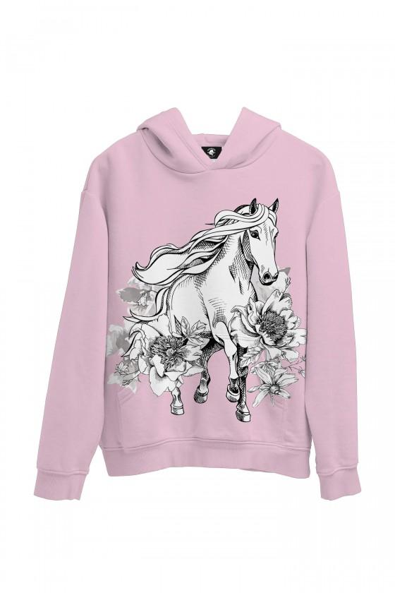 Bluza bawełniana Galopujący koń w kwiatach