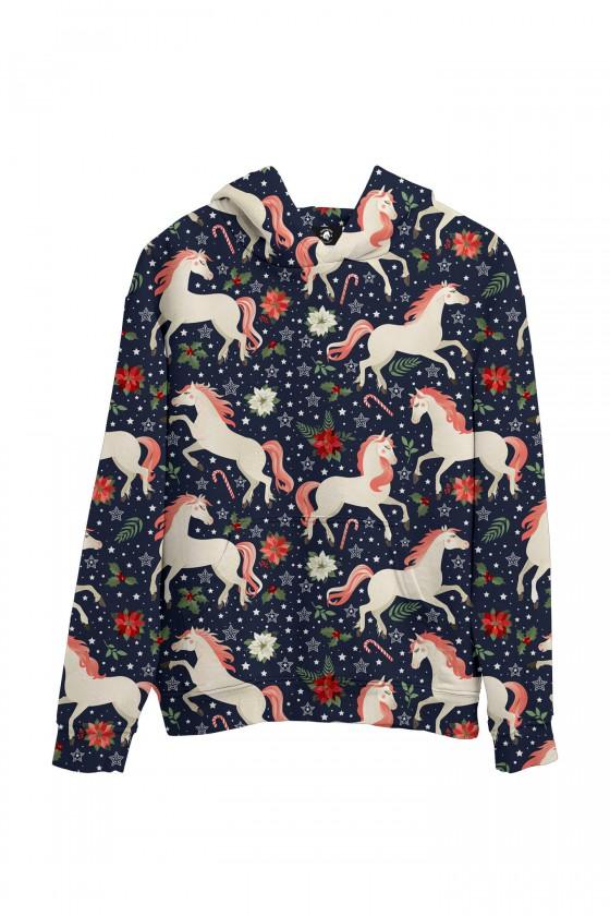 Bluza bawełniana Konie z różową grzywą