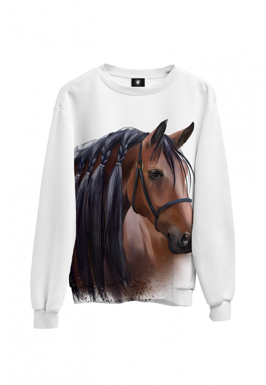 Bluza bawełniana klasyczna Majestat Koni