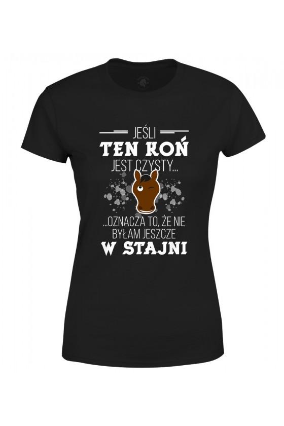 Koszulka damska Jeśli ten koń jest czysty...