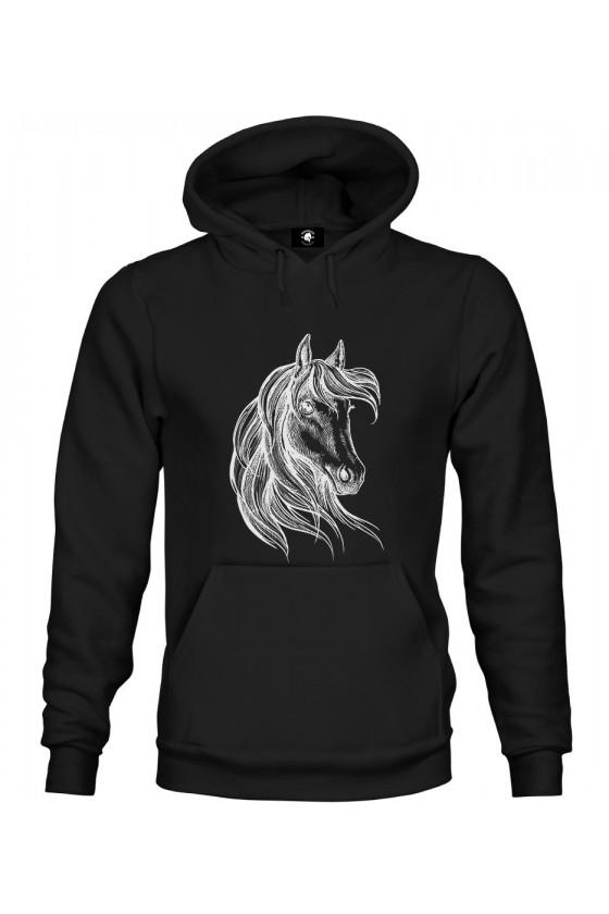 Bluza z kapturem Rysunek Konia