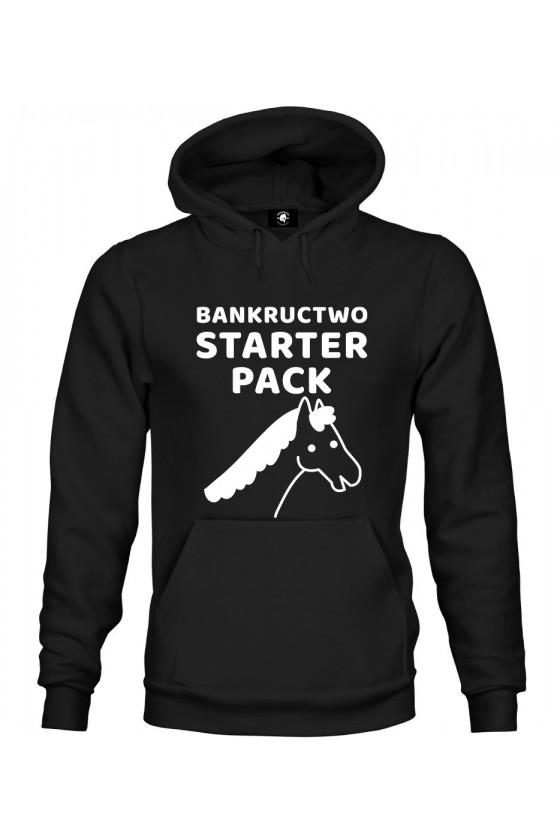 Bluza z kapturem Bankructwo Starter Pack - Koń