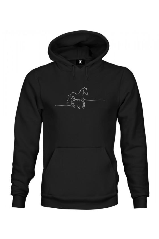 Bluza z kapturem Horse Line Art