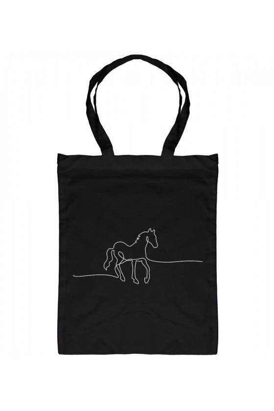 Torba Bawełniana Horse Line Art