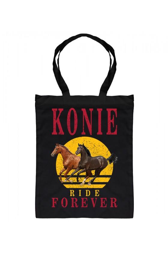 Torba Bawełniana Konie Ride Forever