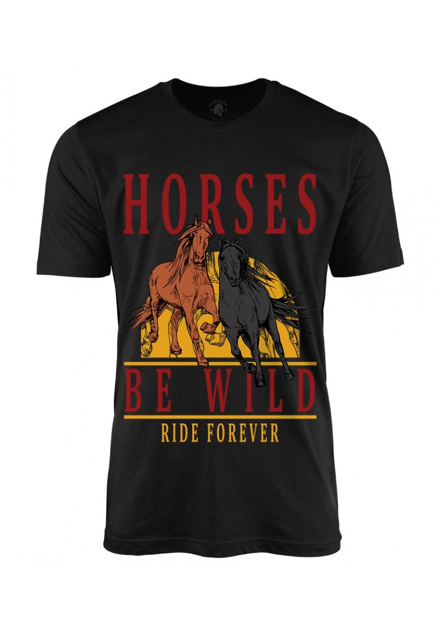 Koszulka męska Horses Be Wild