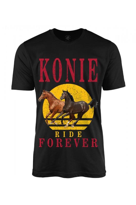 Koszulka męska Konie Ride Forever